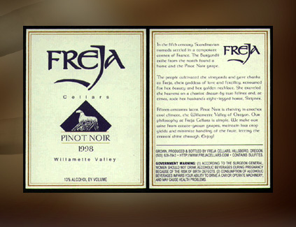 Freja Cellars.  sc 1 st  Crazy Fingers Design Group & Graphic Design Portfolio: Freja Cellars